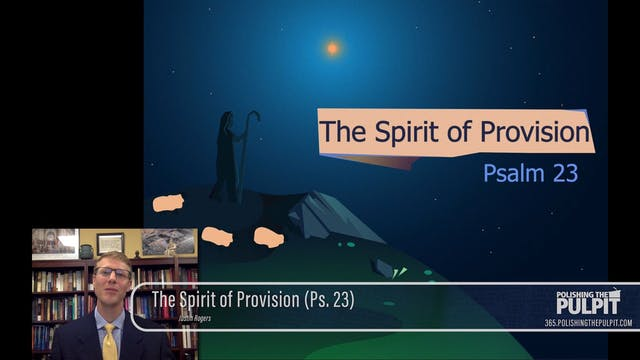 Justin Rogers: The Spirit of Provisio...