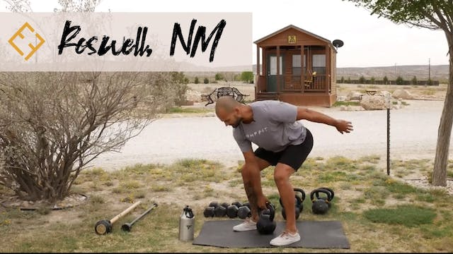 Kettlebell Flow with Paulo in New Mexico