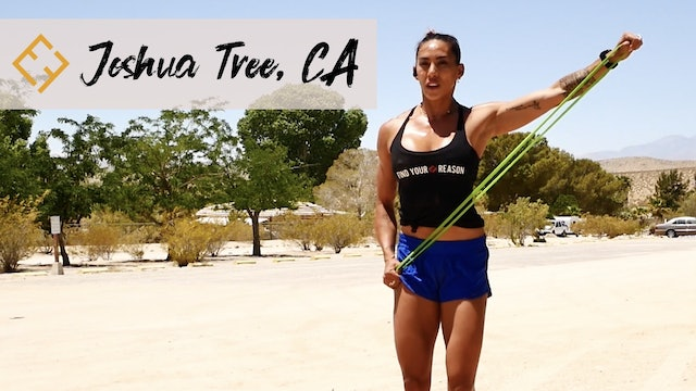 Bodyweight and Bands in Joshua Tree
