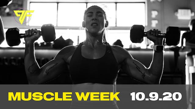 Muscle Week | Friday [CHEST] | - 10.9.20