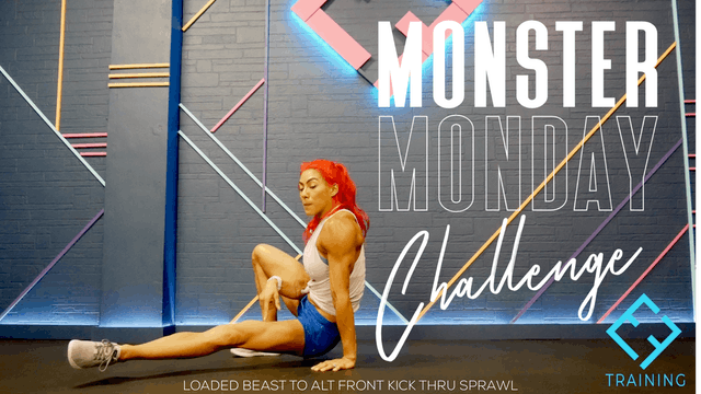 #3 Monster Monday Challenge | Loaded Beast to Alt Front Kick Thru Sprawl