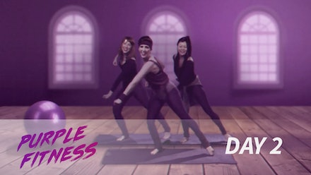 Purple Fitness Class Video