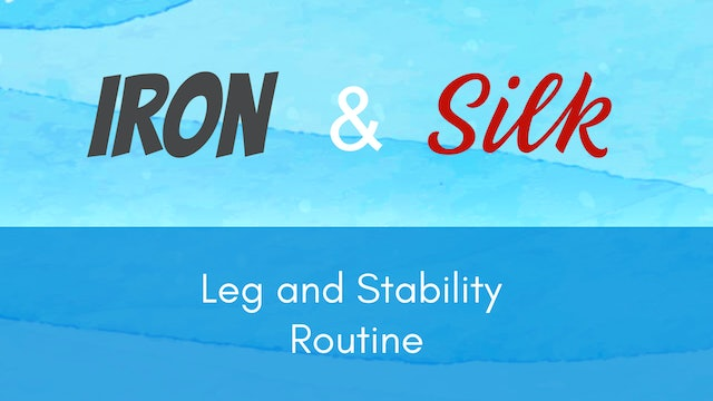 Iron and Silk -  Leg & Stability Routine (19 mins)
