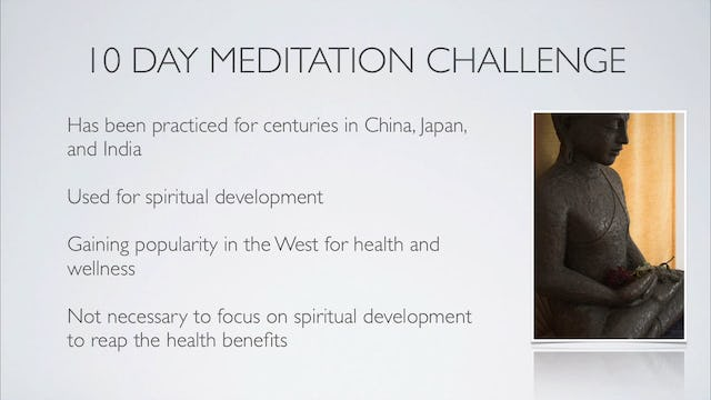Welcome to the 10 Day Meditation Challenge! (start here) 10 mins