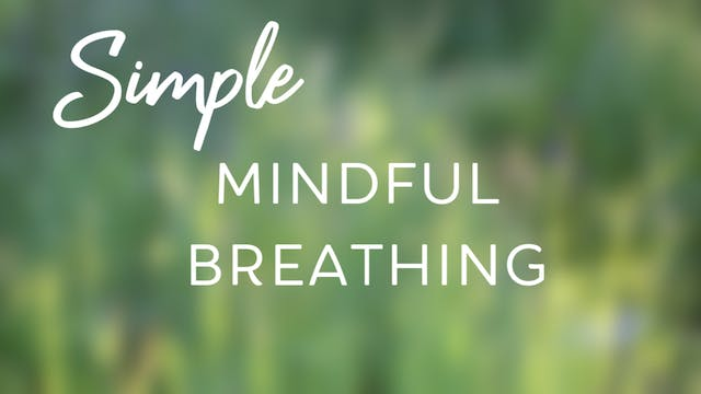 Simple Mindful Breathing (20 mins)