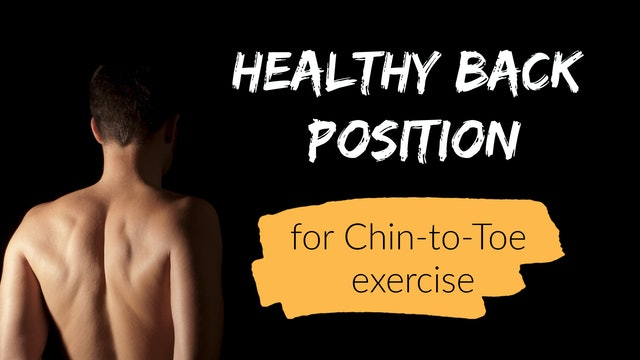 Healthy Back Position for Qigong (6 mins)