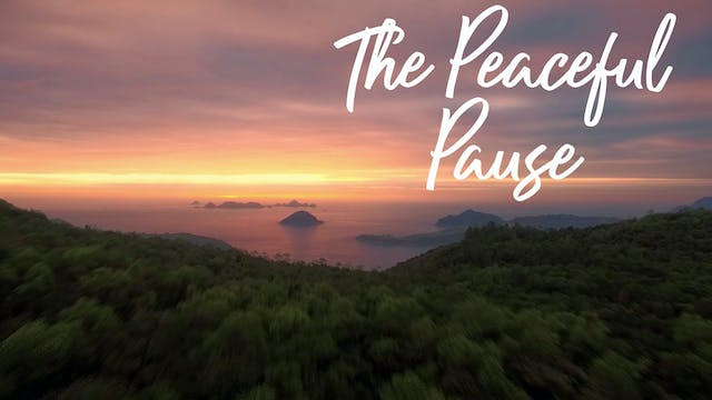 The Peaceful Pause (10 mins)