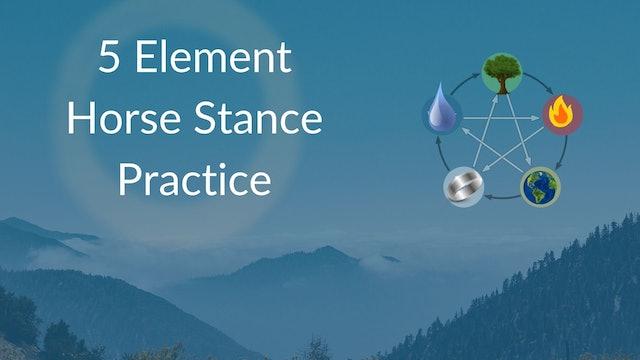 5 Element Horse Stance (10 mins)