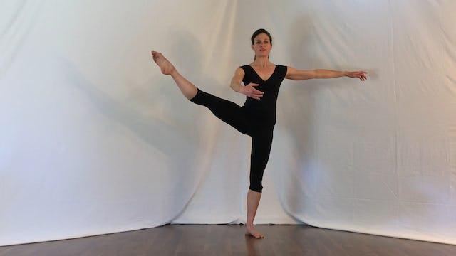Ballet 5 min basic warm-up: plies, tendus, etc.