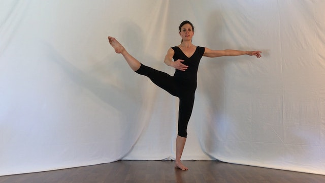 Ballet 5 min basic warm-up: plies, te...