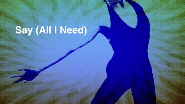Say (All I Need) - Performance