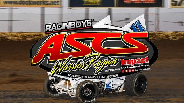 ASCS Warrior Region  Lake Ozark Speedway  10/9/21