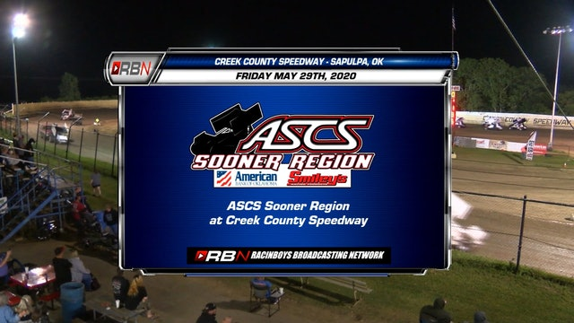ASCS Sooner A Main at Creek County Speedway Fri May 29, 2020