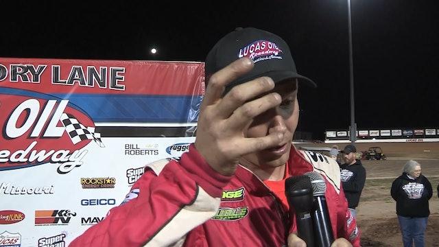 Clash of Champions Post Race Interview Kris Jackson Lucas Oil Speedway 10/13/19