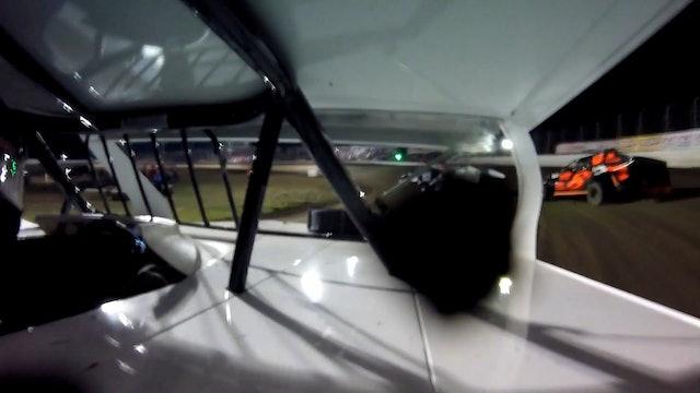 JC Morton In Car Battle at the Bullring Humboldt Speedway 3/27/21