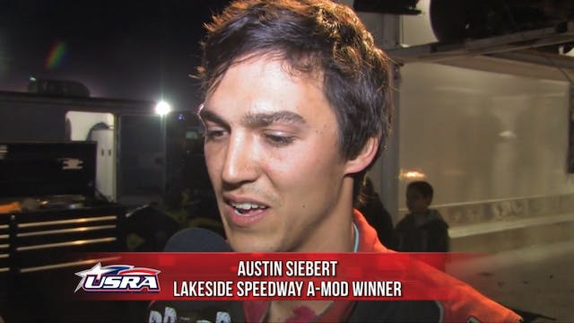 Austin Siebert Post Race Interview @ ...