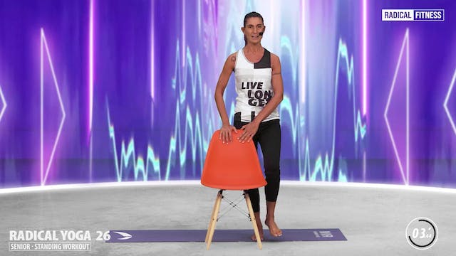 5' Yoga / Standing with chair #5E