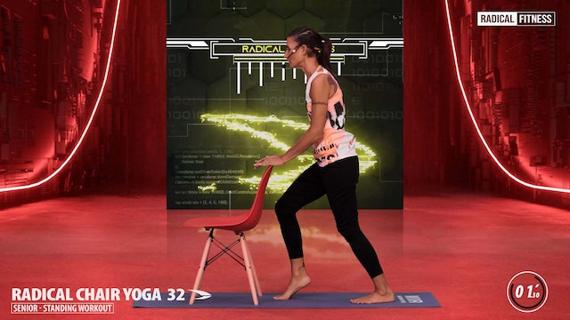 5' Yoga / Standing with chair #6E