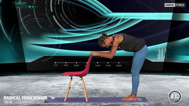 5' Yoga / Standing with chair #1F