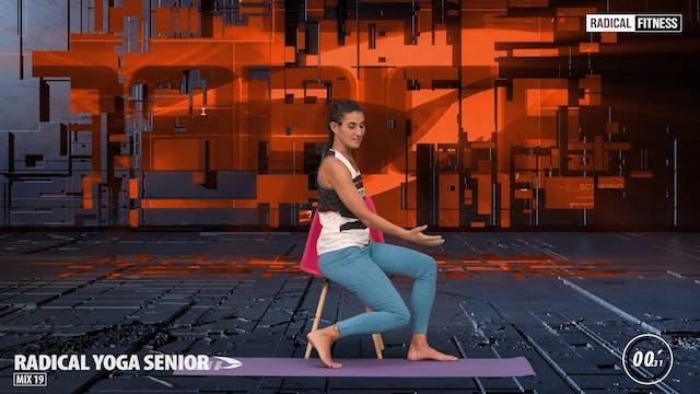 15' Yoga / Senior sitting with chair ...