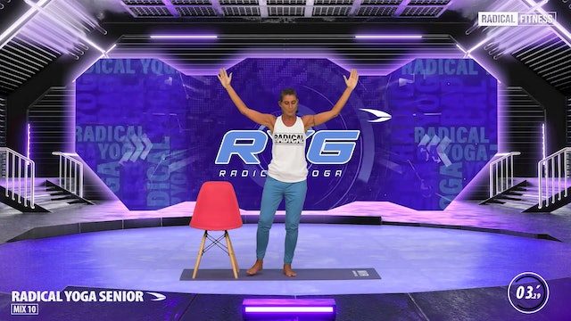 5' Yoga / Standing with chair #2D
