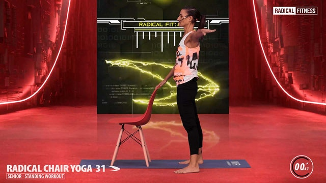 5' Yoga / Standing with chair #6D