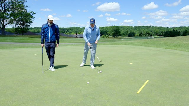 Putter Face Angle Aiming Drill