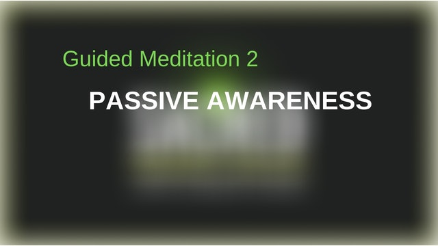 Guided Meditation 2: Passive Awareness