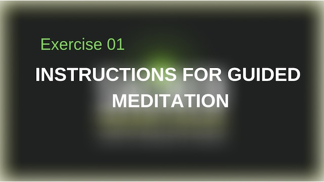 Instructions for Guided Meditation
