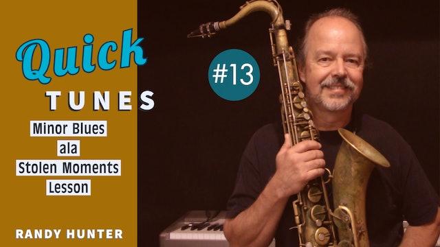 Minor Blues ala Stolen Moments - Lesson - Quick Tunes #13