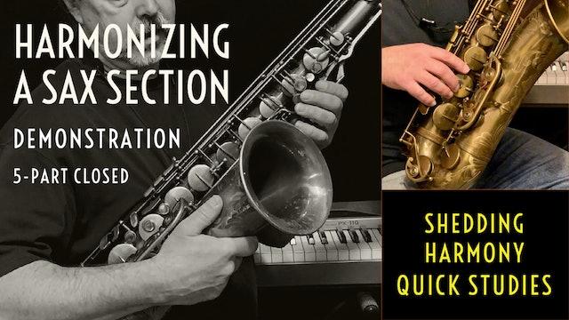 Harmonizing a Sax Section - Performance Demonstration