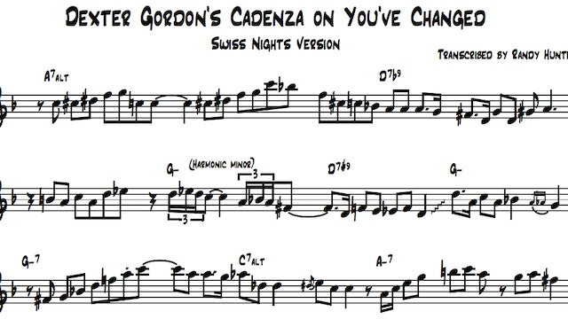 A Look Into Dexter Gordon's Cadenza on You've Changed