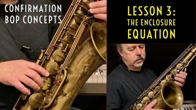 Confirmation Bop Concepts, Lesson 3: The Enclosure Equation