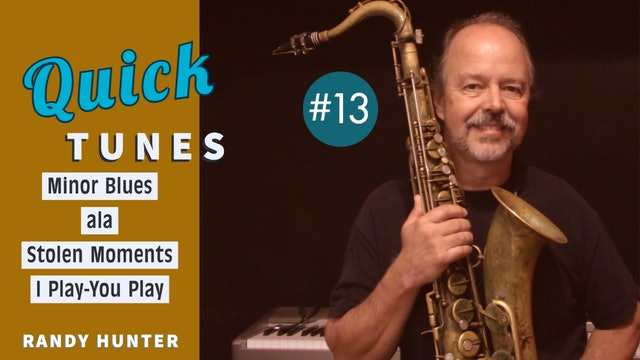 Minor Blues ala Stolen Moments - I Play-You Play - Quick Tunes #13
