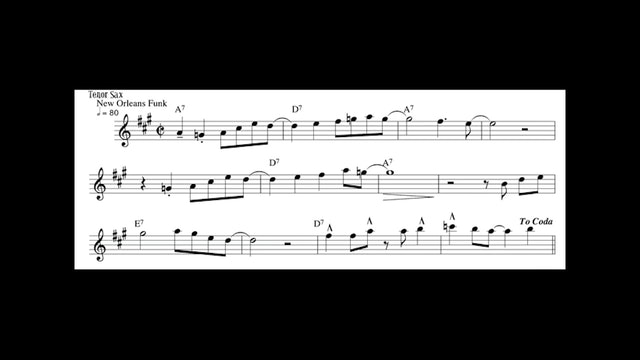 River Bed - Medium Difficulty New Orleans Funk Etude