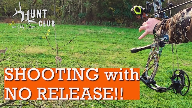 Shooting a Bow Without a Release | Michael Pitts Needs Some Luck | Hunt Club