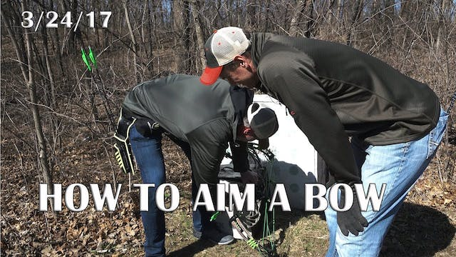 Winke's Blog: How To Aim A Bow