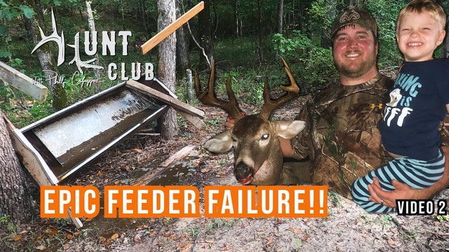 Pouring the Corn to 'Em | A Hilarious Deer Feeder Fail | Hunt Club