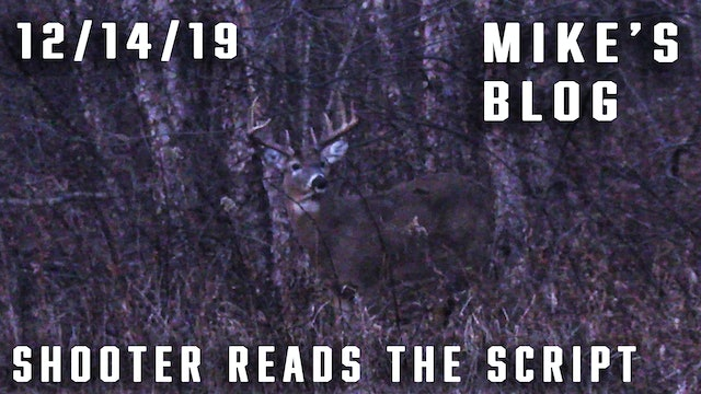 Mike's Blog: Youth Hunt, Shooter Reads the Script