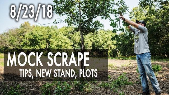 Jared's Blog: Mock Scrape Tips, New Stand