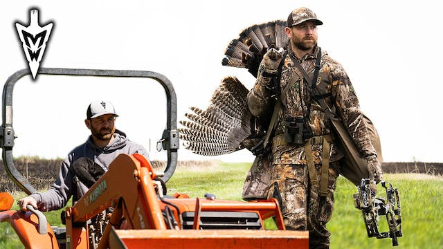 Double-Bearded Gobbler with a Bow, Cr...