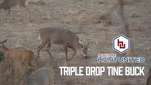 Triple-Drop-Tine Buck in Kansas | Hunting Huge Pre-Rut Whitetails | Hunt United