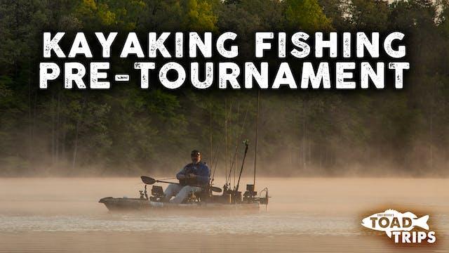 Kayak Fishing Pre-Tournament in Staff...
