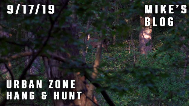 Mike's Blog: Urban Zone Hang & Hunt