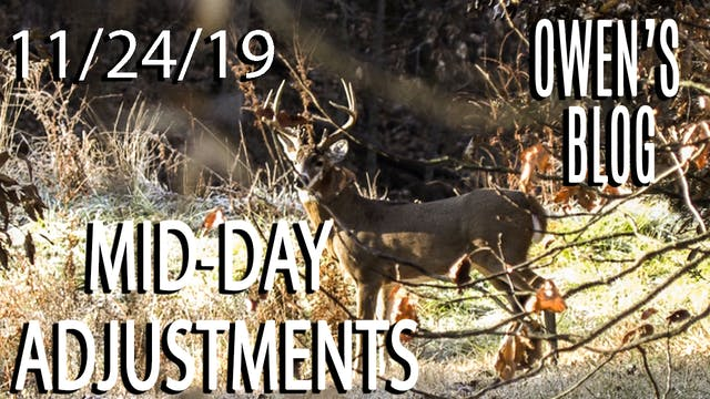 Owen's Blog: Mid-Day Adjustments