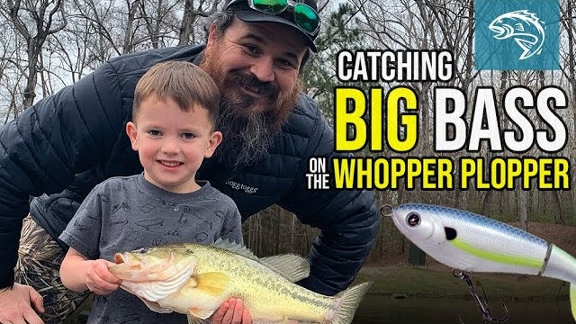 Catching Big Bass on the Whopper Plopper | Kid Catches Huge Fish | Fin Commander