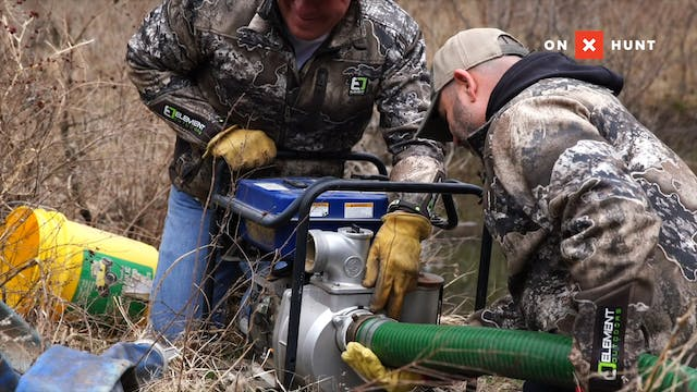 Installing Food Plot Watering Systems...