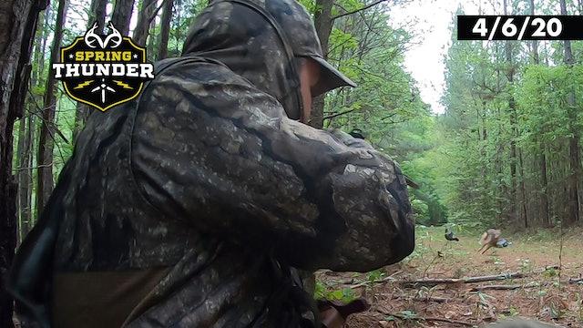 Coyote Attacks Decoy At 8 Yards | Predator Control | Realtree Spring Thunder