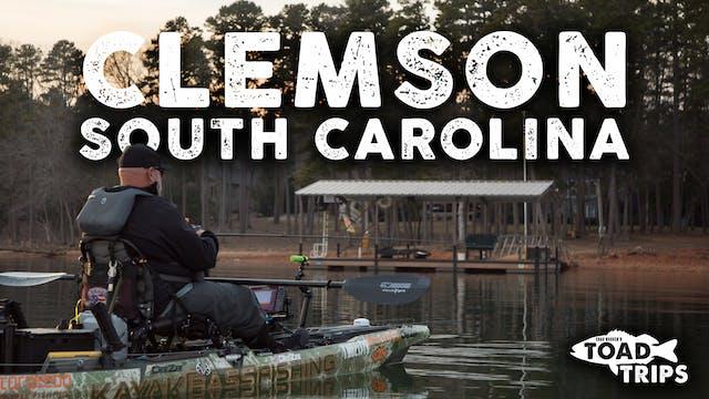Kayak Fishing in Clemson, South Carol...