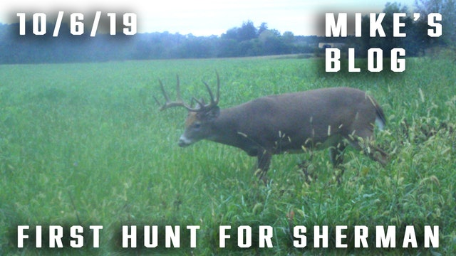 Mike's Blog: First Hunt for Sherman, Hectic Night